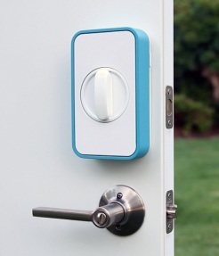 The Lockitron enables wireless control over you existing door locks.